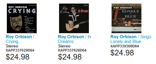 3 Roy Orbison DSD Stereo Downloads from Analog Master Tapes